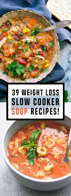 23 Healthy Slow Cooker Soup Recipes That Are Absolutely Delicious! 23 Healthy Slow Cooker Soup Recipes That Are Absolutely Delicious! Low Calorie Recipes Crockpot, Best Soup Recipes, Healthy Slow Cooker, Chicken Soup Recipes, Healthy Crockpot Recipes, Diet Recipes, Healthy Soups, Healthy Juices, Low Calorie Soups