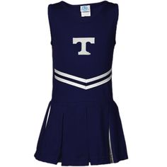Tennessee Volunteers Youth Girls Logo Cheerleader Dress - Navy Blue