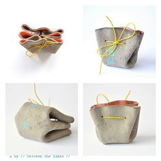 DIY drawstring coin purse by // Between the Lines //, via Flickr. Would be great as little gift bags.