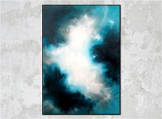 Huge Abstract Cloud Sky Painting on Stretched Canvas. Painting Gallery, Art Painting, Sky Painting, Modern Art Paintings Abstract, Painting, Art, Sky Art, Abstract, White Painting