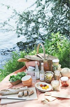 "18 Delicious & Portable Picnic Recipes - Camille Styles Ry some nice recipes for by the river date when u find ""runner man""! Picnic Time, Summer Picnic, Beach Picnic, Picnic Parties, Outdoor Parties, Summer Bucket, Dinner Parties, Plateau Charcuterie, Picnic Foods"