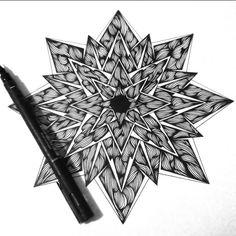 #mandala #zentangle #linework #mandalatattoo #blackwork #symmetry #geometrictattoo #inkart #zen #zendala