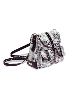 Rachel ~ Convertible backpack can be worn over the shoulder as a handbag or with the adjustable straps as a backpack.  $138