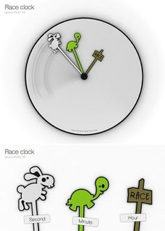 rabbit turtle race clock