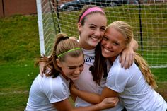 Still loving soccer senior year as a varsity player in High School as we celebrate our last home game.