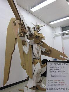 GUNDAM GUY: Gundam Papercraft: 2 Meters Tall Freedom Gundam