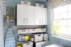 Lovely laundry room from @Brittany (aka Pretty Handy Girl). So organized! #laundry