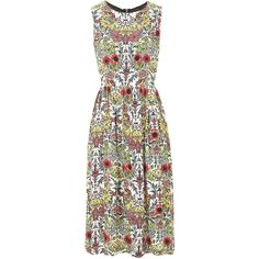 TOPSHOP Floral Tie-Side Midi Dress (5.130 RUB) ❤ liked on Polyvore