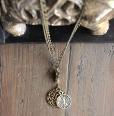 Boho Charm Bronze Necklace by SimplyRusticCo on Etsy