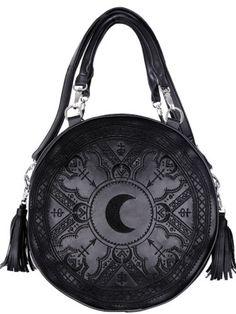 Restyle-Handtasche-Gothic-Mond-Henna-Tasche-Crescent-Moon-Sailor-90s-Witchy-Bag