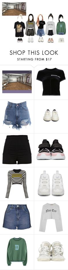 """""""Dance Practice: You Know"""" by ingenueotaku ❤ liked on Polyvore featuring Eckhaus Latta, Reebok, River Island, MSGM, Marc Jacobs, Topshop, Converse and adidas Originals"""