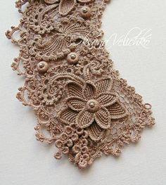 Crochet Lace Collar Pattern Free Knitting 67 Ideas For 2019 Irish Crochet Patterns, Crochet Motifs, Freeform Crochet, Lace Patterns, Crochet Designs, Crochet Lace Collar, Crochet Wool, Crochet Bracelet, Irish Lace