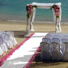 exactly where i want my wedding, the beach