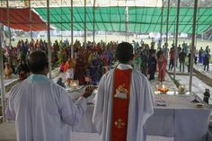 Bangladeshi Christian devotees offering prayers at a church at Nagori, near Dhaka.      The small community has come under attack by Isl...
