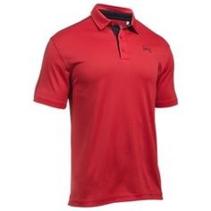 Under Armour Fish Hook Polo for Men - Red/Glacier Gray - 2XL