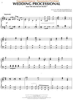 Wedding Processional Sound Music Sheet Rodgers