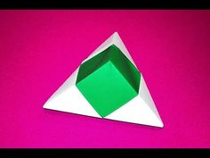 Origami pyramid box - one piece of paper. Christmas gift box. Easy gift box only 3 minutes - YouTube