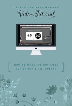 How to Make SVG Cut Files for Cricut & Silhouette - Designs By Miss Mandee. Follow this simple Adobe Illustrator tutorial to learn how to turn your own designs into SVG cut files. I'll never have to buy a cartridge again!