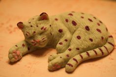 Unique Hand-painted ART Soaps Sleeping Kitties by savannahcat