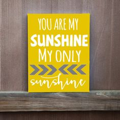 You Are My Sunshine Hand Painted Canvas Gift by LittleDoodleDesign