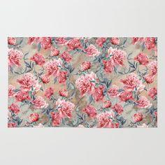 Rug #peony #floral #women #fashion