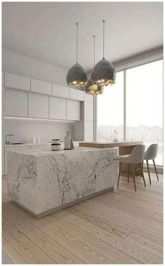 Condo Kitchen, Kitchen Room Design, Modern Kitchen Design, Home Decor Kitchen, Interior Design Kitchen, Diy Kitchen, Awesome Kitchen, Kitchen Cabinets, Beautiful Kitchen