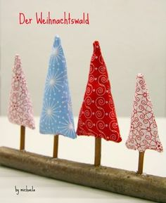 Christmas forest for the windowsill - Diy Winter Deko Felt Christmas, Christmas Time, Christmas Crafts, Christmas Decorations, Christmas Ornaments, Merry Christmas, Reno, Holiday Tree, Christmas Inspiration