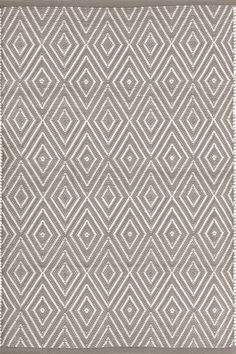 Dash & Albert | Diamond Fieldstone/Ivory Indoor/Outdoor Rug | Shine on, crazy diamond! This best-selling, eye-catching geometric area rug -- in washable, fade-resistant polypropylene -- is a shining gem.
