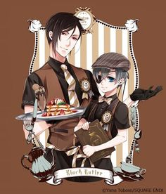 Black Butler Cafe Offers Tasty Treats, Tie-In Goods - Interest - Anime News Network Black Butler Manga, Black Butler Meme, Black Butler Sebastian, Butler Anime, Me Anime, Anime Kawaii, Manga Anime, Anime Stuff, Anime Kuroshitsuji