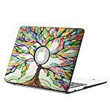 """Fintie MacBook Air 13 Hülle Case - Ultra Slim Hochwertige Kunstleder Coated Hard Shell Schutzhülle Tasche für Apple MacBook Air 13.3"""" (A1466 / A1369) , Liebesbaum"""