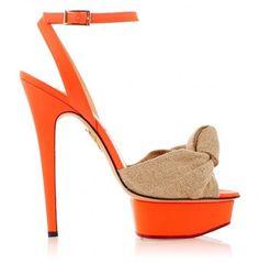 Sandali orange Charlotte Olympia