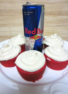 Red(bull) Velvet Cupcakes. OH! MY! GOODNESS!