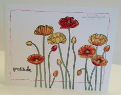 """Stampin' Mary: """"Pleasant Poppies"""" A One Layer Card"""