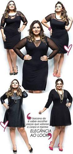 Cute black dresses for curvy girls