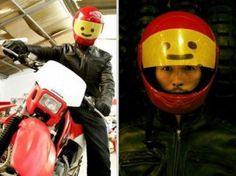 LEGO helmet - for my sweet husband.  next summer when he gets his motorcycle running.