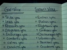 Listening to God's voice.