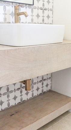 Floating vanities are ideal for bathrooms lacking in space. Today, I am sharing a tutorial on how to make a modern DIY rustic vanity. Floating Bathroom Vanities, Diy Bathroom Vanity, Floating Vanity, Diy Vanity, Small Bathroom, Bathroom Ideas, Bathroom Cabinets, Bathroom Designs, Bathroom Makeovers