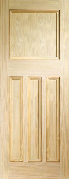 Vine DX Internal Vertical Grain Clear Pine Door  Flat Image