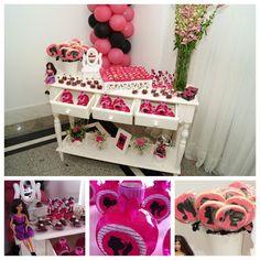Bau da Maricota: Festa Salão de Beleza da Barbie - 5 anos Maria Clara