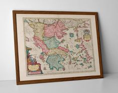Brecknockshire Old Map, originally created by Willem Janszoon Blaeu, now available as a 'museum quality' vintique wall decoration print. English Gifts, Greece Map, Old Maps, Antique Maps, Historical Maps, Fine Art Paper, Vintage World Maps, Wall Decor, Museum