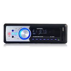 12V Car Bluetooth Hands-Free Call Music Play Stereo 1 DIN MP3 Player FM Radio Support AUX USB SD Card with Caller ID Display