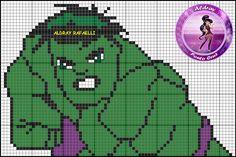 Hulk perler bead pattern by Drayzinha