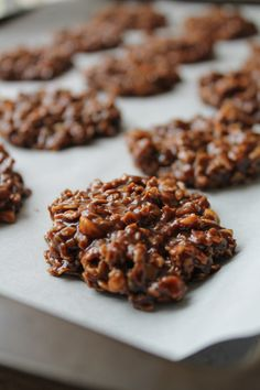 No Bake Chocolate Coconut Oil Cookies (Gluten Free)