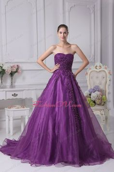 Wedding Dress in Purple