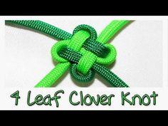 Tutorial: 4 Leaf Clover Knot - YouTube