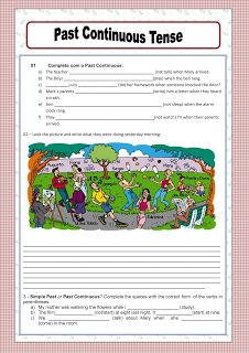 Great past continuous worksheet.