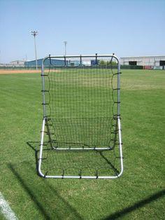 Old School Quality Pitchback Pitch Bounce Back Baseball Soccer League Training Aid Net & Frame #BestSportsDirect #baseballpractice