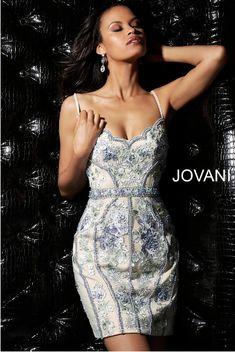 8c9541dce64 Multi Nude Embellished Fitted V Neck Jovani Homecoming Dress 66318