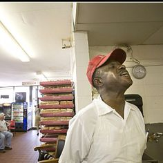 """J.C. at The Beacon in Spartanburg, SC. """"Call it""""  J.C. Passed away this week after almost 60 years on the job."""