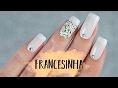 UNHAS DECORADAS COM FRANCESINHA (FÁCIL) - Ideia Rosa - YouTube